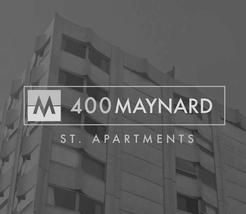 400 maynard ann arbor logo and building